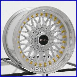 4-New 16 Vors VR3 Wheels 16x8 4x100/4x114.3 20 Silver Rims