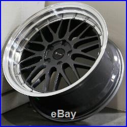 4-New 19 Vors VR8 Wheels 19x8.5/19x9.5 5x114.3 35/35 Hyper Black Staggered Rims