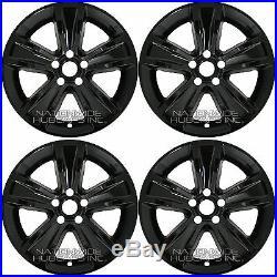 4 New 2015 16 17 18 Dodge Charger 18 Black Wheel Skins Hub Caps Full Rim Covers
