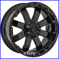 4-Panther OffRoad 678 20x9 6x135/6x5.5 +0mm Gloss Black Wheels Rims 20 Inch