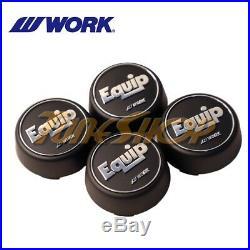 4 Pcs Work Wheel Equip 01 02 03 Wheels Rims High Type Center Caps Set Black