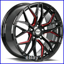 4-Shift Spring 18x8 5x4.5 +35mm Black/Milled/Red Wheels Rims 18 Inch