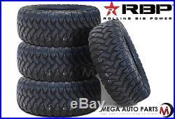 4 X New RBP Repulsor M/T 35X12.50R20LT 121Q 10Ply All Terrain Mud Tires MT