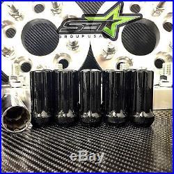 5x100 To 5x114.3 Conversion Kit Fr-s Brz Wrx 25mm +20 Tall Black Spline Lug Nuts