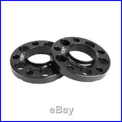5x120 Staggered Wheel Spacers Kit (2) 15mm & (2) 20mm With Extended Bolts Fits BMW