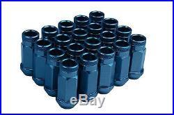 12x1.5 BMW Racing Stud Conversion Kit 75mm Blue Racing Lug Nuts Free Shipping