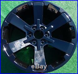 Black 22 inch Escalade Wheels Set Four Yukon Tahoe Suburban OEM Factory GM Style
