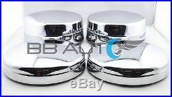 Chrome Wheel Center Hub Caps Set Of 4 For 2003-2017 Dodge Ram 3500 1-ton Dually