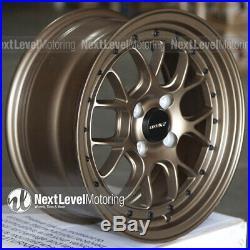 Circuit Performance CP27 15x7 4-100 +35 Matte Flat Bronze Wheels Rims (SET OF 4)