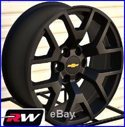 Fit GMC Sierra Replica Wheels Satin Black 20 inch Rims fit ...