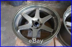 For 350z r34 v35 370z 300zx fd3s JDM 18 114.3x5 wheels bronze Style Staggered