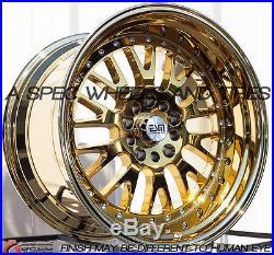 Gold Chrome 18x11 15 Esm 007 5x114 3 Rim Fit G35 G37 350z