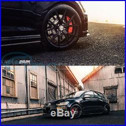 GTC Wheels AFF-1 Satin Black 19 VW Golf MK5 / MK6 / MK7 TSI TDI GTI GTD R32 R