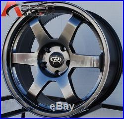 Hyper Black 17x8 +44 Rota Grid 5x100 Wheels Fit Subaru Impreza 2.5 Wrx Wagon Brz