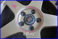 JDM 17 Rays S201 wheels 22b RS-Zero 5x100 sti forged for SF5 Subaru Impreza GC8