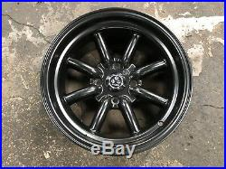 New 15x8 inch Watanabe Classic design Wheel (set of 4) Matt Black 4x114.3 Et-5