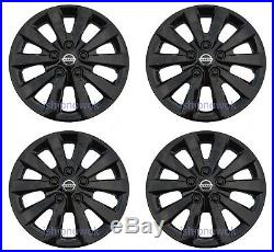 SET (4pcs) BLACK 16 Hubcap Wheelcover Fits 2010-2020 NISSAN SENTRA ALTIMA