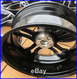 SET OF FOUR 22 x9 WHEELS RIMS fit FORD EDGE EXPLORER FLEX SHINY BLACK NEW