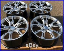 SET OF FOUR 4 20 x10 WHEELS RIMS fit JEEP GRAND CHEROKEE SRT-8 STYLE SILV NEW