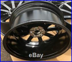 SET OF FOUR 4 20 x9 WHEELS RIMS fit CHRYSLER 300 300C 300S SRT-8 BLACK NEW