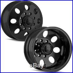 Set of 4-17 Ion 167 Dually 8x165.1 (8x6.5) Matte Black Wheels Rims