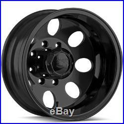 Set of 4-17 Ion 167 Dually 8x200 Matte Black Wheels Rims