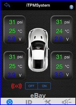 Tyre Tire Pressure Monitor System Car Motorcycle Bluetooth for Android iPhone