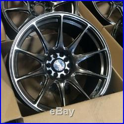 Used 18x8.75/18x9.75 XXR 527 5x100/114.3 +20 Chromium Black Wheels Fits 350z G35