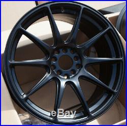 Used 18x8 XXR 527 5x100/114.3 +42 Black Rims Fits Wrx Frs Civic Tsx Accord Rx8