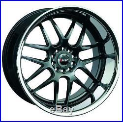 XXR 526 17X10 Rims 5x100/114.3 +20 Chromium Black Wheels (Set of 4)