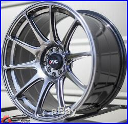 XXR 527 19X8.75 Rims 5x114.3 +38 Chromium Black Wheels (Set of 4)