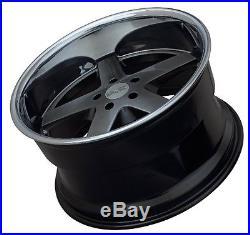 XXR 968 17X10 Rims 5x114.3 +20 Chromium Black Wheels (Set of 4)